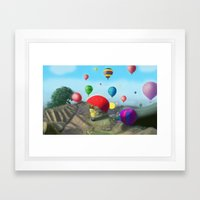 surprise view. Framed Art Print