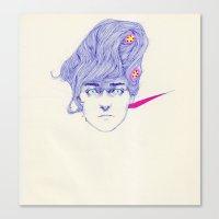 Hair Play 08 Canvas Print