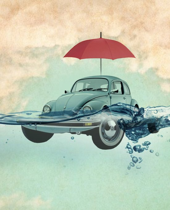 VW Chance of rain in deep water Art Print