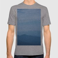 Blue Ridge Mountains Mens Fitted Tee Athletic Grey SMALL