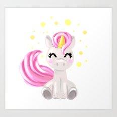 Little Unicorn Art Print