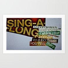 Singalong Art Print
