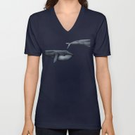 The Whale Who Met  Itsel… Unisex V-Neck