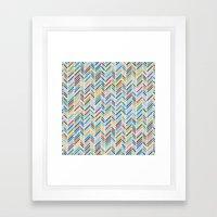 Herringbone Colour Framed Art Print