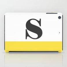 Monogram Letter S-Pantone-Buttercup iPad Case