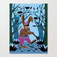 The Clarinet Bunny Canvas Print