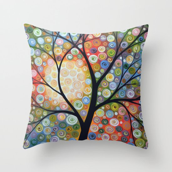 Waiting For the Moon Throw Pillow