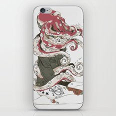 My head is an octopus iPhone & iPod Skin