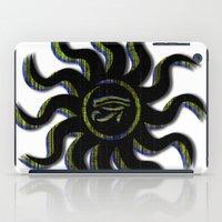 Yellow Egyptian Sun iPad Case