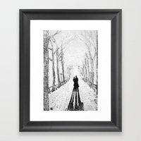 Winter Walk in the Park Framed Art Print