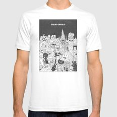 Squad Ghouls SMALL White Mens Fitted Tee