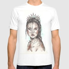 Lost Mermaid SMALL Mens Fitted Tee White