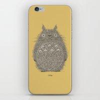 Yellow Totoro iPhone & iPod Skin
