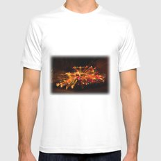 Candy Cane Lane Chevy Truck White Mens Fitted Tee SMALL
