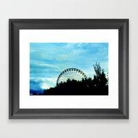 Ferris Wheel II Framed Art Print