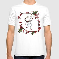 Snowman Mens Fitted Tee White SMALL