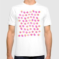 Strawberries In Watercol… Mens Fitted Tee White SMALL
