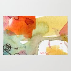 watercolour floral abstract Rug