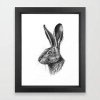Hare profile G138 Framed Art Print