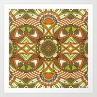 Boho Geometric Pattern 21 Art Print