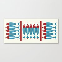 Red Fish, Blue Fish Canvas Print