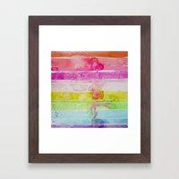 Fruity Stripe Framed Art Print