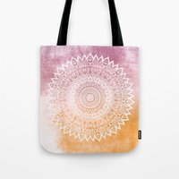SUMMER LEAVES MANDALA Tote Bag