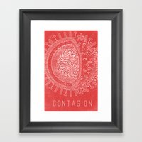Contagion Movie Poster Framed Art Print