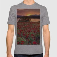 Sea Of Poppies At The La… Mens Fitted Tee Athletic Grey SMALL