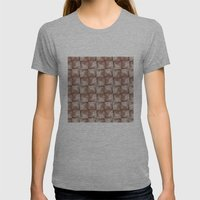 Wall Pattern Womens Fitted Tee Athletic Grey SMALL