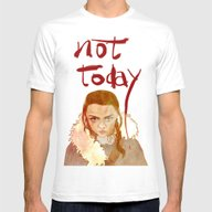 Not Today Mens Fitted Tee White SMALL