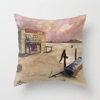 The Lone Saloon Throw Pillow
