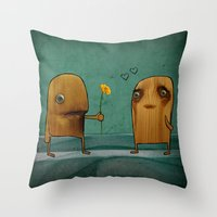 Wood He Love Me? Throw Pillow