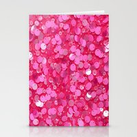 Pink Glitter Stationery Cards