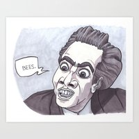 Nicholas Cage loves bees. Art Print