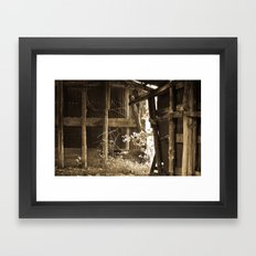 Barn Light Framed Art Print