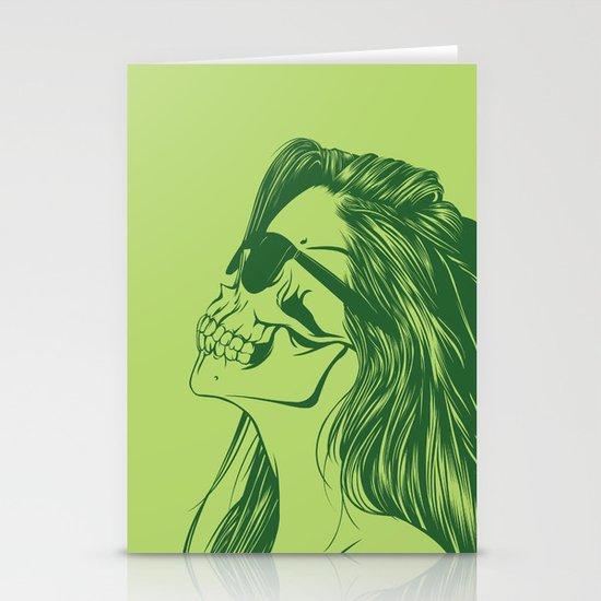 Skull Girl 2 Stationery Card