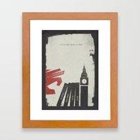 V for Vendetta, Alternative Movie Poster Framed Art Print