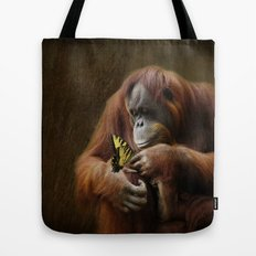 Orangutan and Butterfly Tote Bag