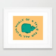 Whale Love Framed Art Print