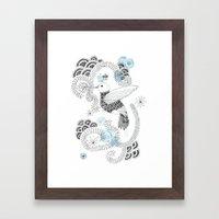 Blue King 2 Framed Art Print