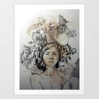 Tigers and Cats Art Print