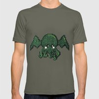 Tiny Cthulhu Mens Fitted Tee Lieutenant SMALL