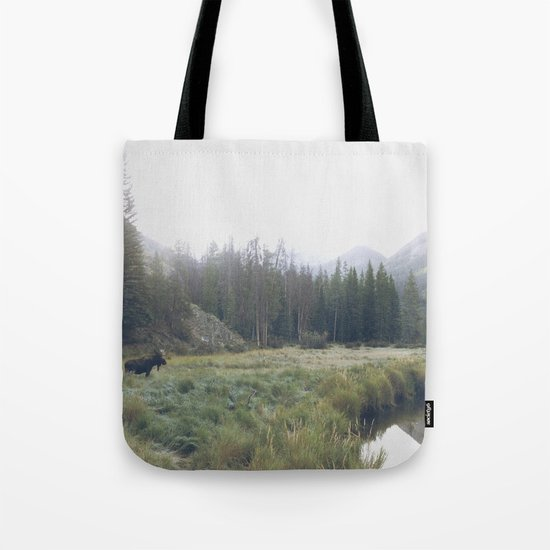 Morning Meadow Moose Tote Bag