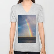 Unisex V-Neck featuring Magnificent Rainbow by Svetlana Korneliuk