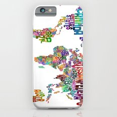 Text Map Of The World iPhone 6 Slim Case