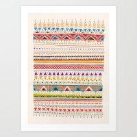 patterns Art Prints featuring Pattern by Sandra Dieckmann