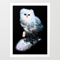 Celestial Cats - The Persian and the Ashes of the First Stars Art Print