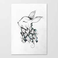 Poetic Rabbit Canvas Print