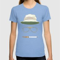 Movie Icons: Fear And Lo… Womens Fitted Tee Tri-Blue MEDIUM